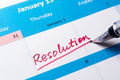 Resolution word on calendar - PhotoDune Item for Sale