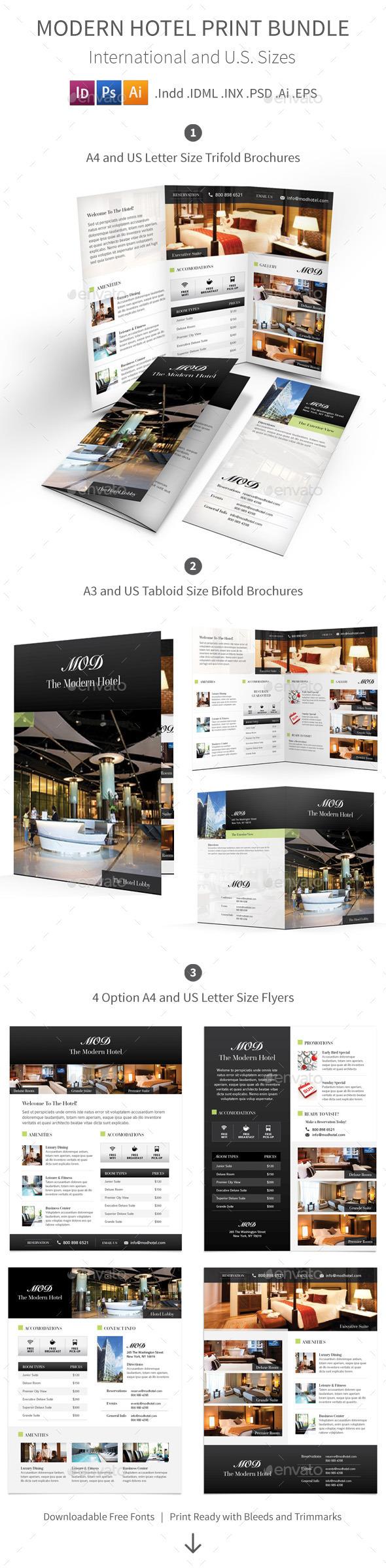 GraphicRiver Modern Hotel Print Bundle 9406221
