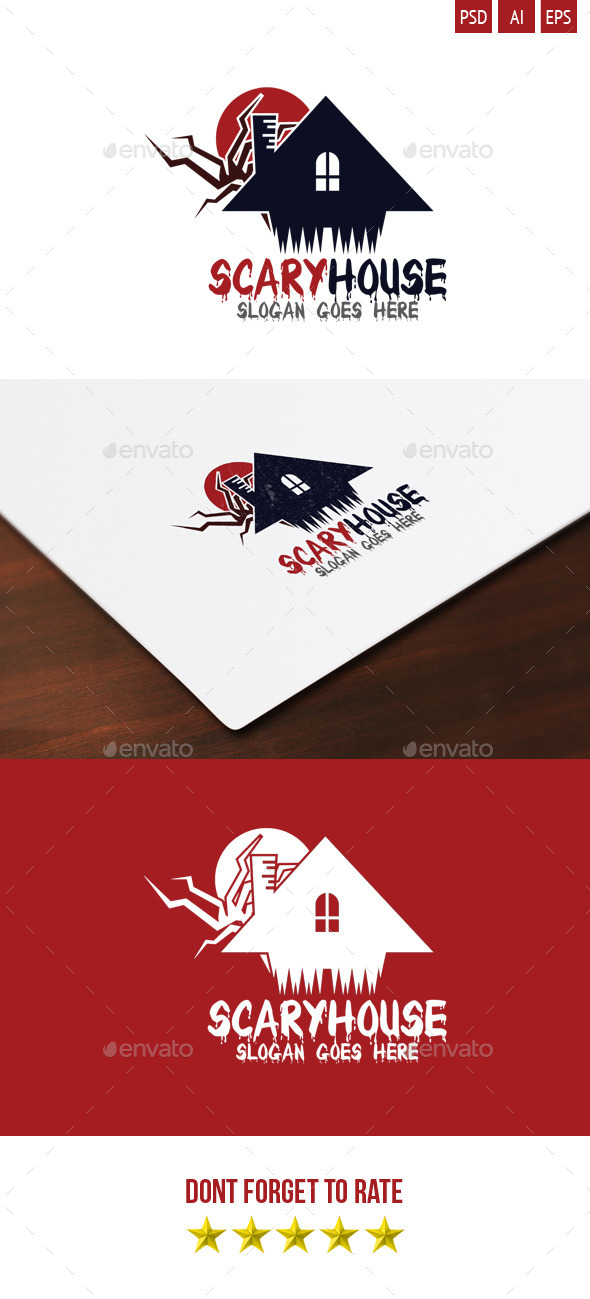 GraphicRiver Scary House Logo 9406289