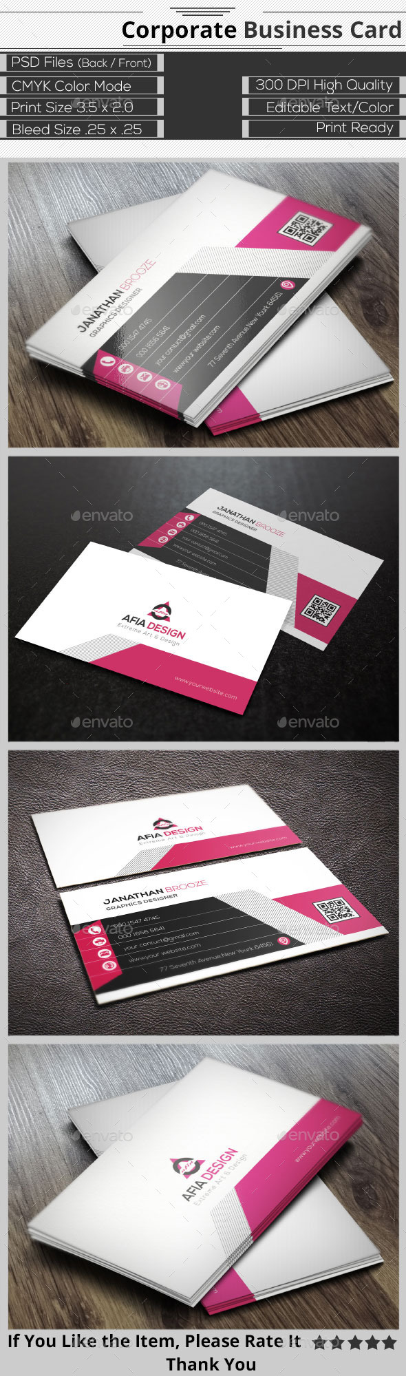 GraphicRiver Clean Corporate Business Card 9406334