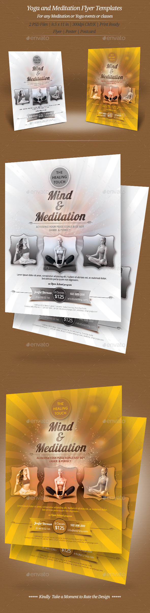 GraphicRiver Yoga and Meditation Flyer Templates 9406335