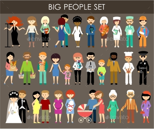 GraphicRiver Set of People of Different Professions and Ages 9406345