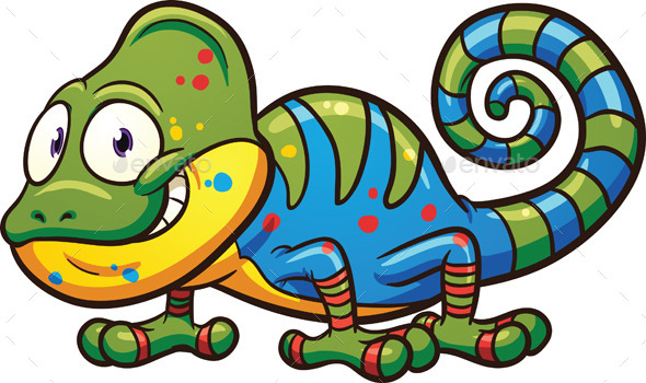 GraphicRiver Cartoon Chameleon 9406350