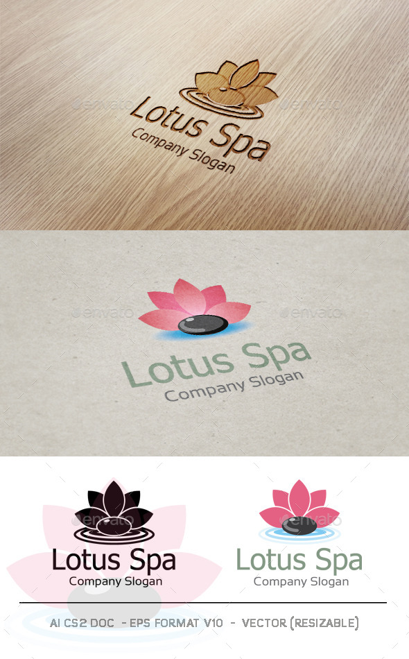 GraphicRiver Lotus Spa Logo 9406393