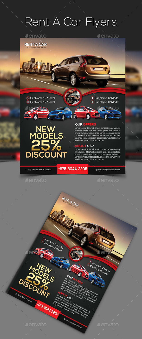 GraphicRiver Rent a Car Flyer 9357845