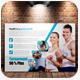 Fitness Postcards - GraphicRiver Item for Sale