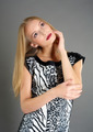 Portrait of blond lady with long hair - PhotoDune Item for Sale