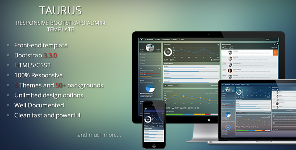 Taurus - Responsive Bootstrap 3.3.0 Admin Template - Admin Templates Site Templates