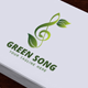 Green Song Logo - GraphicRiver Item for Sale