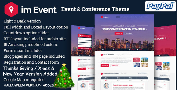 im Event - All in One Event Conference Landing Page - Events Entertainment