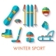 Vector Icon Set of Winter Sport. Flat Design. - GraphicRiver Item for Sale