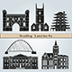 Reading Landmarks and Monuments - GraphicRiver Item for Sale