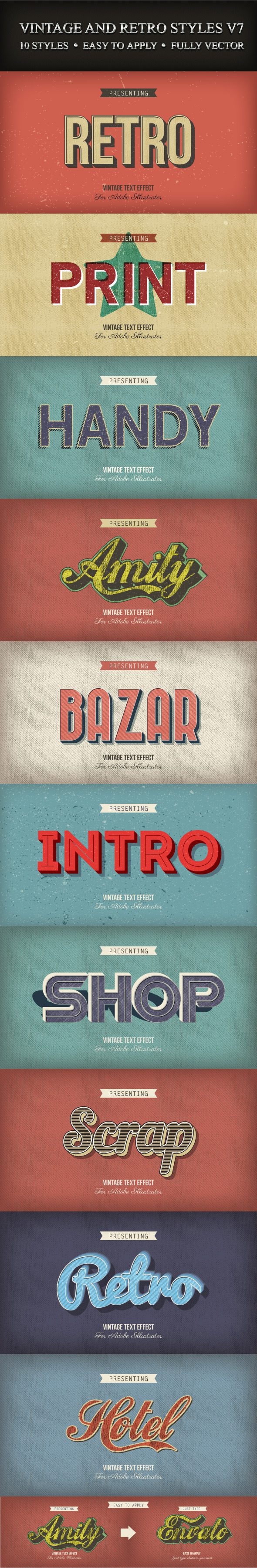 GraphicRiver Vintage and Retro Styles V7 9407343