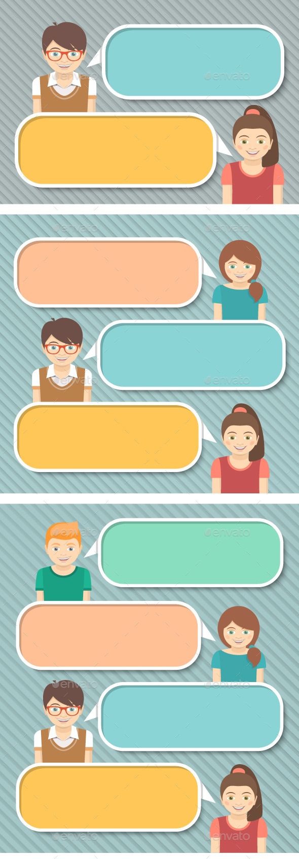 GraphicRiver Kids with Speech Bubbles 9407354