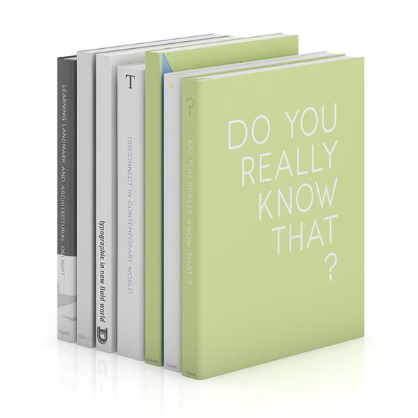 3DOcean Books 3 9407356