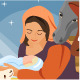 Christmas Christian Nativity Scene - GraphicRiver Item for Sale