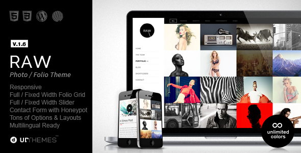 Raw - Responsive Photography WordPress Theme - Photography Creative