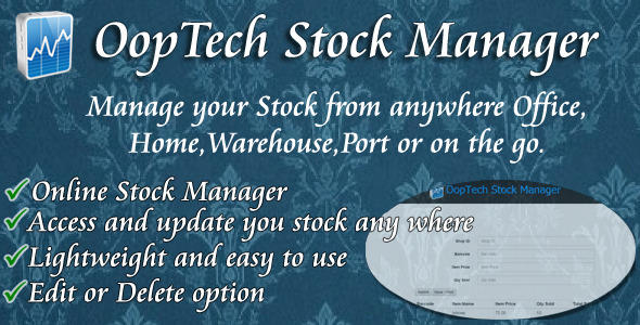 CodeCanyon OopTech Stock Manager- Transaction & Inventory 9288047