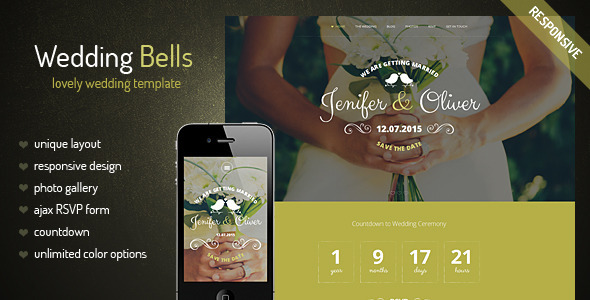 ThemeForest Wedding Bells Responsive Wedding Template 9332159