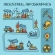 Industrial Sketch Infographic Set - GraphicRiver Item for Sale