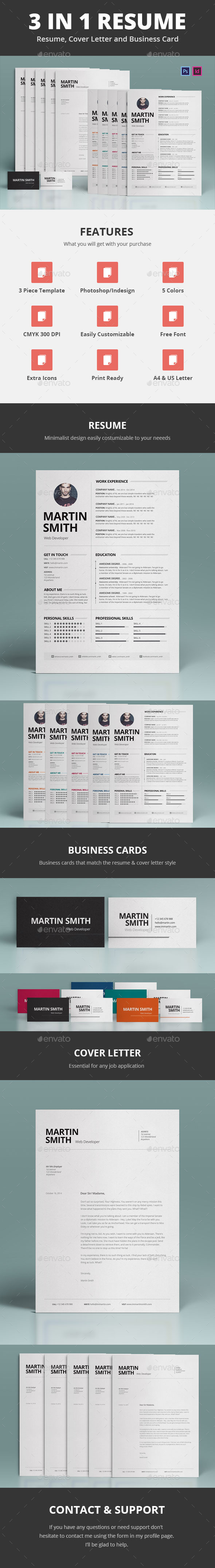 GraphicRiver 3 in 1 Resume 9407916