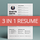 3 in 1 Resume - GraphicRiver Item for Sale