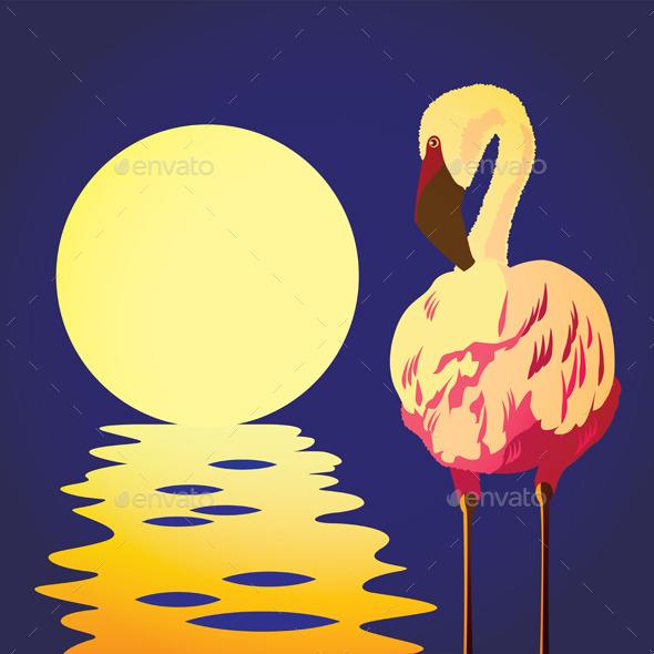 GraphicRiver Flamingo in the Sun 9407955