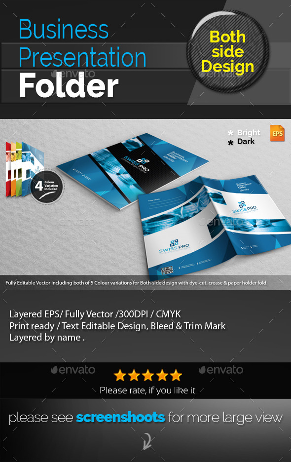 GraphicRiver Swiss Corporate Presentation Folder 9408408