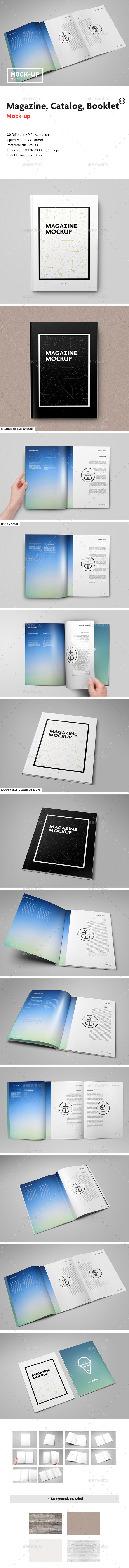 Magazine Catalog Booklet Mock-Up