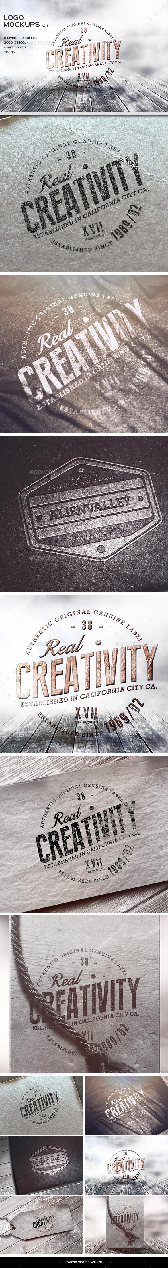 GraphicRiver Logo Mockup-V.5 9408758