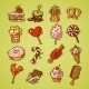 Sweets Sketch Icon Set Color - GraphicRiver Item for Sale