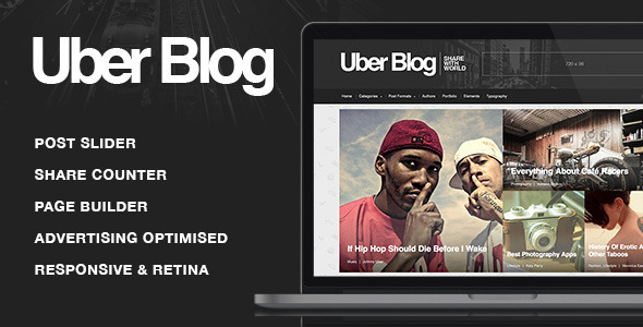ThemeForest Uber Blog Premium Blog WordPress Theme 9334434