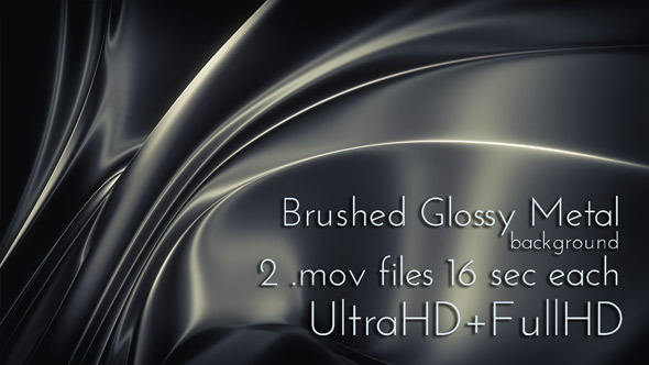Brushed Glossy Metal Surface