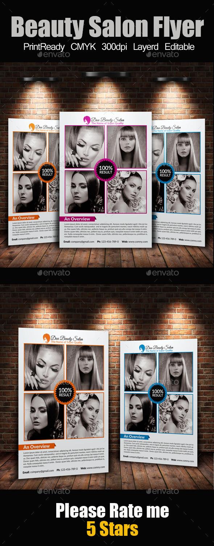 GraphicRiver A4 Beauty Salon Flyer 9409273