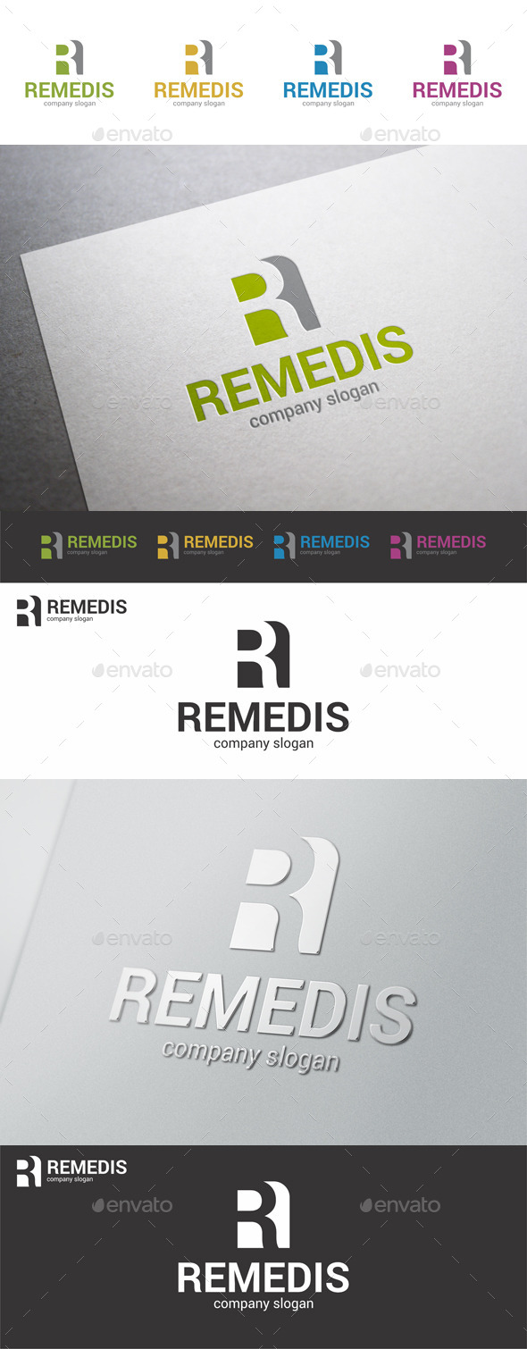 GraphicRiver Letter R Logo Template Remedis 9409278