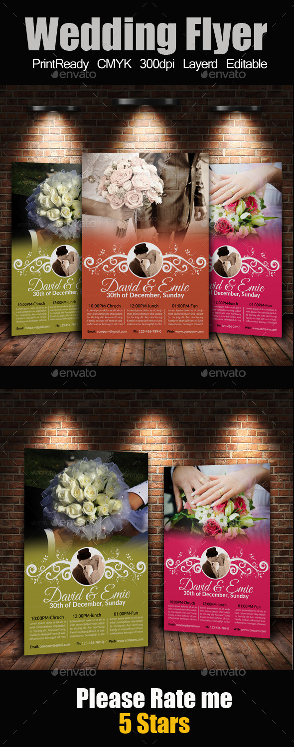 GraphicRiver A4 Wedding Flyer 9409469