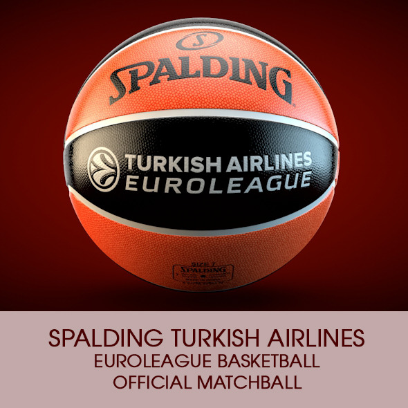 3DOcean Spalding Euroleague Basketball Official ball 9409727