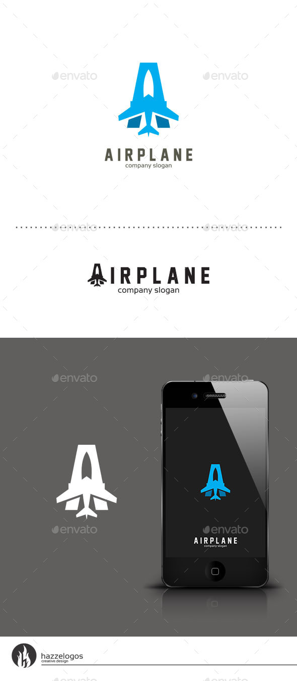 GraphicRiver Airplane Logo 9409805