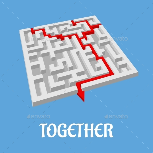 GraphicRiver Labyrinth Puzzle Showing Two Alternative Routes 9409997
