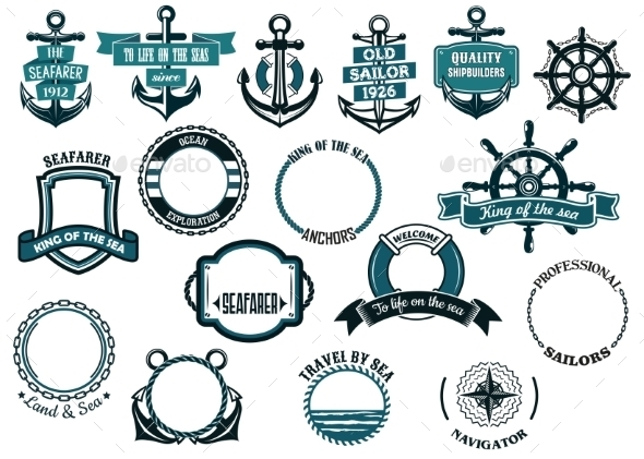 GraphicRiver Set of Nautical or Marine Themed Icons 9410002