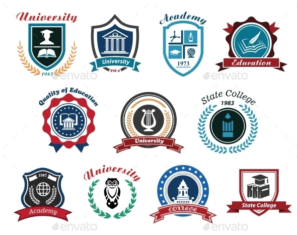 GraphicRiver University Academy and College Emblems 9410004