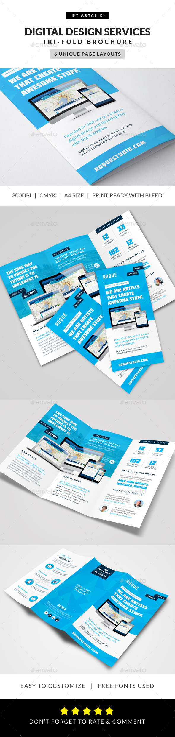 GraphicRiver Web Design Agency Brochure 9410041