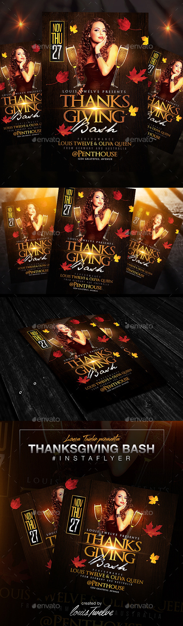 GraphicRiver Thanksgiving Bash Flyer & Instapromo 9410042
