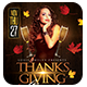 Thanksgiving Bash Flyer + Instapromo - GraphicRiver Item for Sale