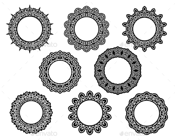 GraphicRiver Set Lace Frames 9410046