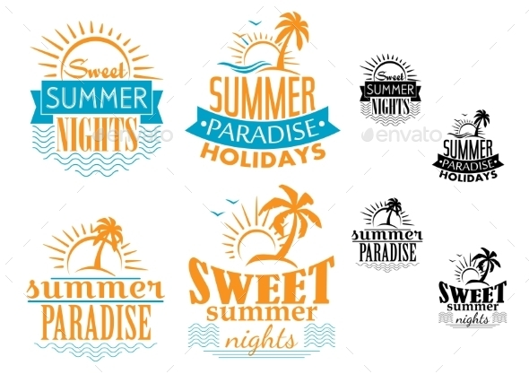 GraphicRiver Summer Travel and Vacation Badges 9410052