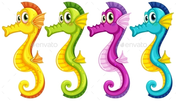 GraphicRiver Seahorses 9410079