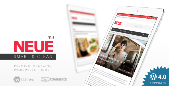 NEUE Smart & Modern Magazine Theme