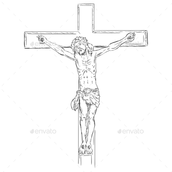 GraphicRiver Jesus on the Cross 9410144