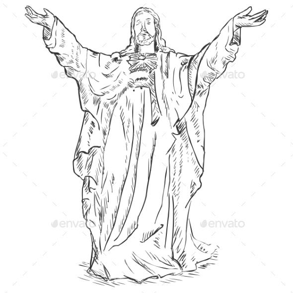 GraphicRiver Jesus Christ with Hands Raised 9410152